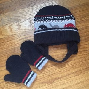 Other - Dinosaur hat and mittens
